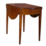 18th Century American Federal Period Inlaid Mahogany Pembroke Table