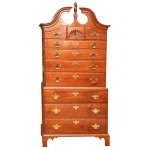 American Cherry Bonnet Top 18th Century Chest-on-Chest
