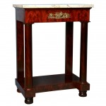 American Mahogany and Marble Classical Stand/Side Table