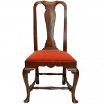 New England Maple and Tiger Maple Queen Anne Side Chair Ca. 1750