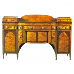 Federal Period Tiger Maple Classical Sideboard