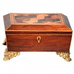 Regency Inlaid Rosewood Box