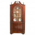 Pennsylvania Maghogany Corner Cupboard, Ca. 1820