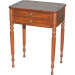 New England Federal Period Two Drawer Stand
