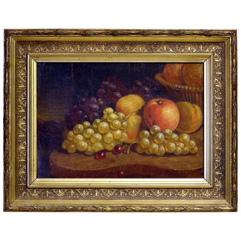 Still Life Fruit Painting American 19th Century Paul