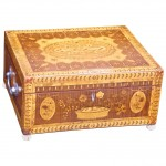 Exquisite English Regency Inlaid Sewing or Valuables Box