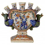 Dutch Delft Tulip Vase, 19th Century