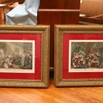 2 William Hogarth Prints, The Rake's Progress, The Prison plate 7 , the Mad House, plate 8