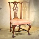 18th Century New England Walnut Chippendale Side Chair