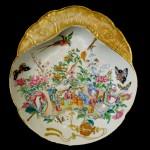 Chinese Rose Canton Mandarin Porcelain Shrimp Dish, Ca. 1840