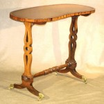 Small English Regency Rosewood Writing Table, Ca. 1825