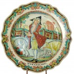 "English Cream Ware ""The Prodigal Son"" Plate"