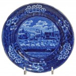 "Historical Staffordshire Plate ""The Landing of Gen, Lafayette"""
