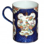 Early Worcester Blue Scale Mug, Ca. 1770
