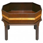 Brass and Mahogany 18th Century Style Planter/Side Table/Wine Cooler