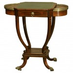 Inlaid English Regency Rosewood Writing Table