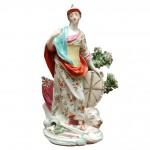 Large Derby Figurine Representing Britannia, Ca. 1765