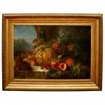 Henri Emile Brunner-Lacoste, Fruit Still Life Painting