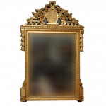 Early 19th Century Gilt French Mirror With Liberty Cap Carving