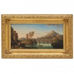 19th Century European Landscape Oil on Board