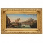 19th Century European Landscape Oil on Board