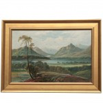 19th Century Panoramic Landscape Oil Painting