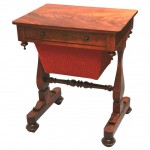 English Regency Mahogany Sewing Table