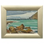 "Oil Painting ""Rocks On The Tasman Bay"" by Gabriel E. Adams"