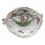 English Worcester 18th Century Cabbage Leaf Dish