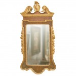 Stately George II or III Mahogany and Gilded Mirror
