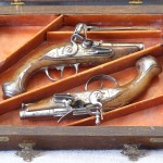 Pair of Boxed European Flintlock Pistols Ca. 1780