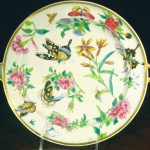 Chinese Rose Canton Warming Plate, Ca. 1840
