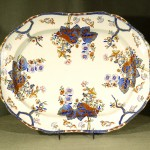 Colorful Spode Ironstone Platter, Ca. 1840