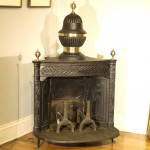 Antique Cast Iron and Brass Franklin Fireplace