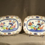 Pair of Small Colorful Chinese Export Porcelain Platters, Ca. 1800