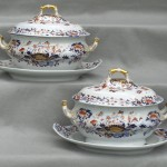 Pair of Spode Soup Tureens W/ Platters