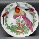 Chelsea Exotic Porcelain Bird Plate Ca. 1755