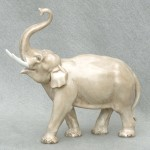 Meissen Porcelain Figure of an Elephant by Erich Oehme