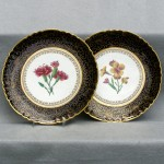 Pair of English Floral Decorated Plates, Ca 1880