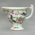 Chinese Export Rose Canton Helmet Shaped Pitcher, Ca. 1840