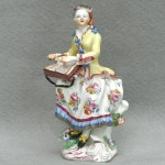 English Figurine Of A Dulcimer Player, Ca. 1750