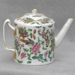 Small Chinese Rose Canton Porcelain Tea Pot, Ca. 1850