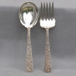 S. Kirk & Son Large Sterling Salad Fork and Spoon, Ca. 1915