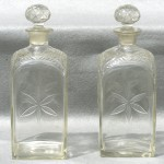 Pair of Cut Crystal Decanters, Mid 19th Century