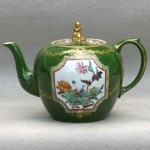 Colorful Ashworth Ironstone Teapot, Ca. 1865
