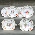 Floral Decorated European Porcelain Plates