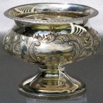 American Coin Silver Repousse Bowl, Ca. 1835