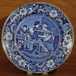Dark Blue Staffordshire Plate, The Valentine Ca. 1825