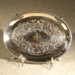 Antique English Sterling Engraved Tea Pot Stand, Ca. 1780