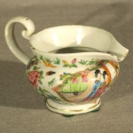 Antique Chinese Export Rose Canton Mandarin Creamer, Ca. 1840